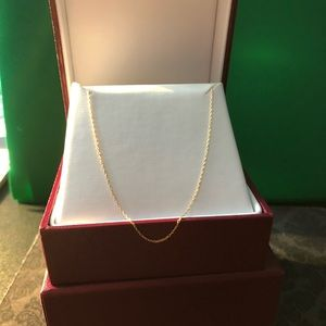 18k gold chain from helzberg (new)